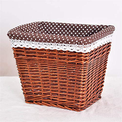 Bixialan Laundry Baskets Wicker Basket Storage Chest Trunk Hamper With Cloth Linning Laundry Hampers Storage Sorter (Color : C, Size : L)