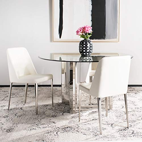 Safavieh Home Collection Mid-Century Modern Baltic White Side Chair (Set of 2)