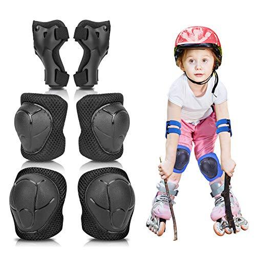 MAIGG Ellbogenschützer für Kinder, Knieschützer, Handgelenkschützer, Kinderschutzausrüstung 6-in-1-Set, Verstellbarer Gurt, geeignet für 3-8 Jahre, für Multisport Skateboard Balance Fahrradroller