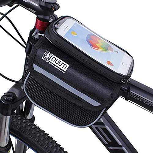 TYUXINSD Hermosa Phone Bike Front Frame Bag EVA Pantalla táctil Sensible táctil para Sport Bicycle Saddle Transparente S
