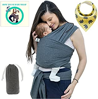 a112c2bcade Baby Wrap Carrier For Boys and Girls By SSL Gender Neutral Baby Sling  Carrier For Infants
