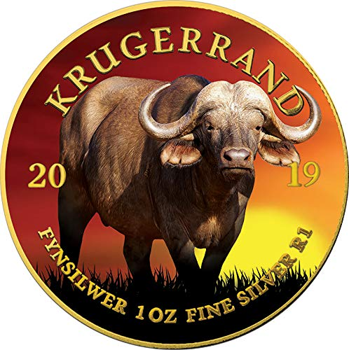 Power Coin Buffalo Büffel Krugerrand Big Five 1 Oz Silber Münze 1 Rand South Africa 2019