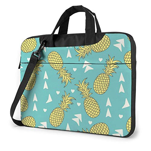 15.6″Lightweight Laptop Notebook Shoulder Backpack Bag Tropical Plants Pine Funnny (39) Waterproof PC Briefcase Messenger with Strap