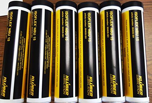 Kluber Isoflex NBU 15 High Speed Bearing Grease 6x400g Cartridge. Box of 6.