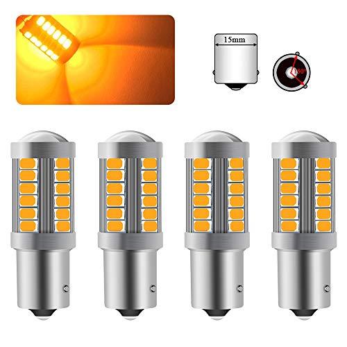 4 X 1156BAU15S PY21W Bombilla LED Ámbar Super Brillante
