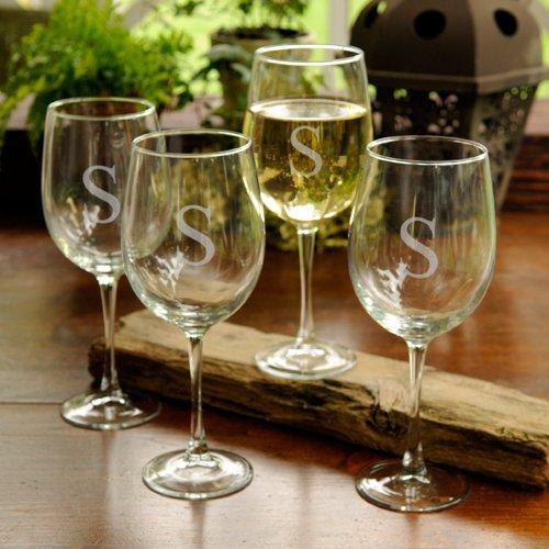 Personalisierte Direct weiß Wein Gläser–Set von vier