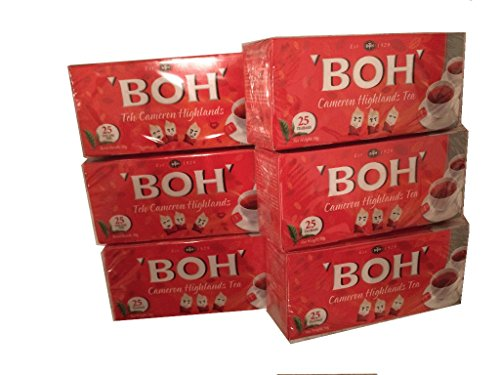 高級紅茶BOH・ボーティー キャメロン高原ティー1箱50g (25 ティーパック x2g) x6箱 (300g) [並行輸入品]