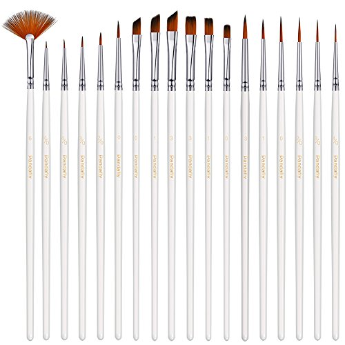 PANDAFLY Detail Paint Brush Set - 18 Small Enamel Miniature Brushes for Fine Detailing & Art Painting - Acrylic, Watercolor, Gouache, Oil - Model, Face, Airplane Kits, Warhammer 40k, Rock Painting