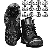 50 Pieces Crampons Traction Ice Cleats Climbing Running Anti-Skid Shoe Grips Carbon Steel Studs Crampons Spikes Non-Slip Safe Protect for Boots Shoes Women Men Kids