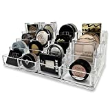 byAlegory Organizador de maquillaje de sombra de ojos de acrílico en niveles | 16 espacios