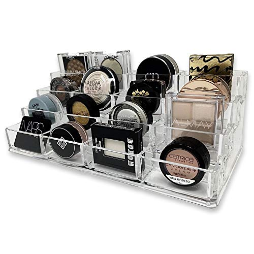 byAlegory Tiered Acryl Lidschatten Makeup Organizer | 16 Space Cosmetic Beauty Care Lagerung