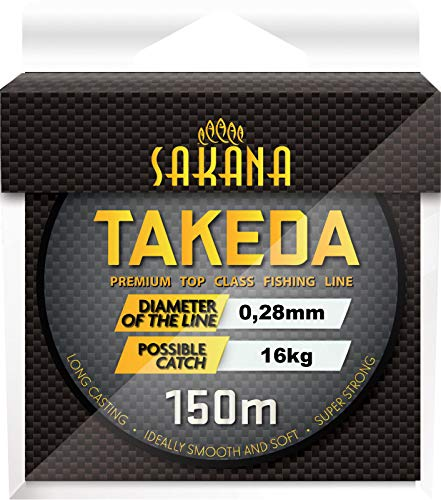 York Fitness Angelschnur SAKANA TAKEDA 0,14-0,40mm 150m Spule Monofile 0,03€/m (0,28mm)