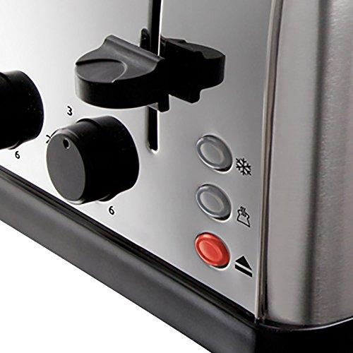 Russell Hobbs 18790 4 Slice Toaster, Stainless Steel, 1500 W