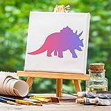 Immagine 2 tazemat 12 pcs stencil dinosauro