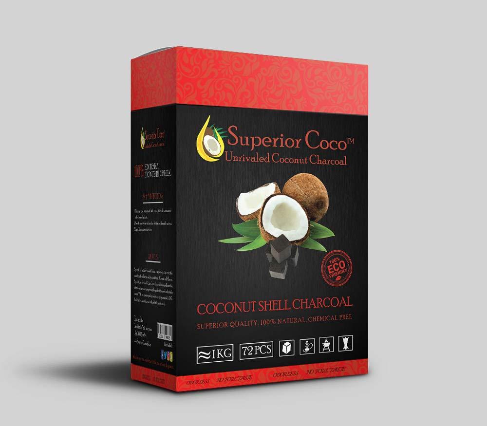 Superior Coco Coconut Charcoal 1kg Cube