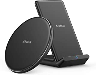 Anker Wireless Chargers Bundle, PowerWave Pad & Stand Upgraded, Qi-Certified, 7.5W for iPhone 11, 11 Pro, 11 Pro Max, Xs Max, XR, XS, X, 8, 8Plus, 10W for Galaxy S10 S9, Note 10 Note 9 (No AC Adapter)