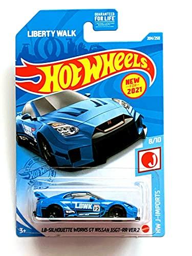 DieCast Hotwheels LB Silhouette Works GT 35GT RR Ver.2, HW J-Imports 8/10 [Blue] 204/250