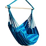 Bormart Hanging Rope Hammock Chair Large Cotton Weave Porch Swing Seat Comfortable and Durable...