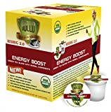 SOLLO Organic Green Tea Pods Compatible With 2.0 K-Cup Keurig Brewers, Energy Boost Organic Green...
