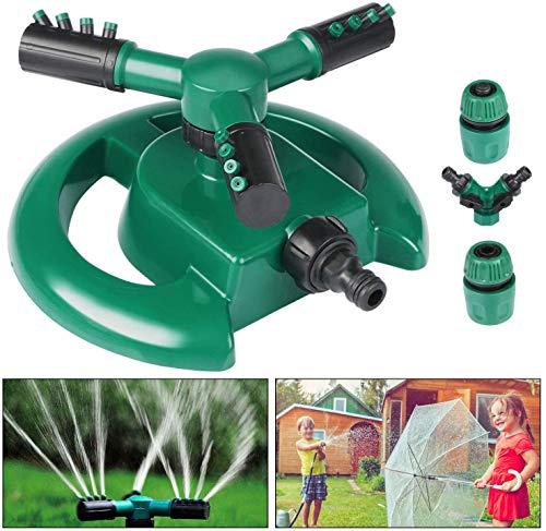 Aspersor de jardín, Emooqi Aspersor automático de agua para césped Rociador giratorio...