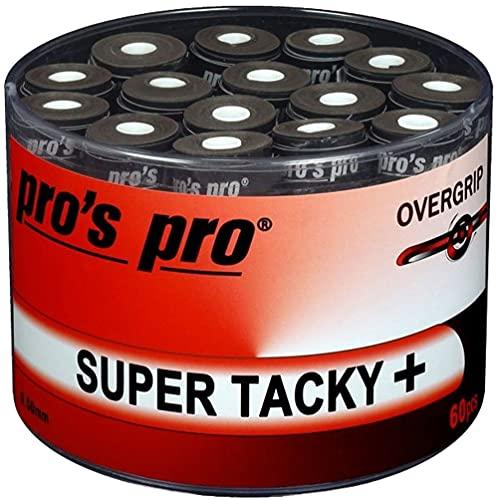 Pro 60 Overgrip Super Tacky Tape Plus Tennis Pros Griffband schwarz