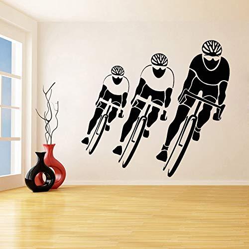 NSRJDSYT Adesivo murale in Vinile Gara ciclistica Ciclismo Sport Adesivi murali Ciclista Accessori per la Decorazione della casa Decorazione Artistica Rimovibile Murale 57x62cm