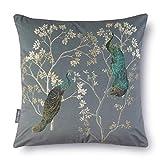Celina Digby Cojín de terciopelo suave, diseño floral, tamaño...