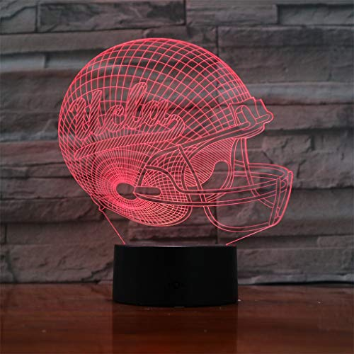 YLSE-night light Luces De La Noche 3D UCLA Bruins/Led Luces De Ahorro De EnergíA, 7 Luces Decorativas De Cambio De Color - Base Negra, NiñOs