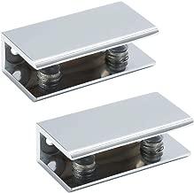 des panneaux de serrage 10-12 mm NUZAMAS Lot de 4 colliers de serrage /à 180 /° avec support de verre pour fixation sur les deux c/ôt/és de la douche des tables