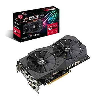 ASUS ROG Strix Radeon RX570 O8G Gaming GDDR5 DP HDMI DVI VR Ready AMD Graphics Card  ROG-STRIX-RX570-O8G-GAMING