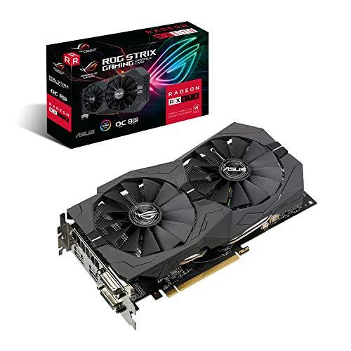 ASUS ROG Strix Radeon RX570 O8G Gaming GDDR5 DP HDMI DVI VR Ready AMD Graphics Card (ROG-STRIX-RX570-O8G-GAMING)