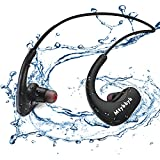Waterproof Headphones for Swimming,IPX8 Waterproof 8GB MP3 Player Wireless Bluetooth Swimming Headphones with Noise Cancelling Mic for Swimming,Diving,Running,Cycling,Gym,Workout