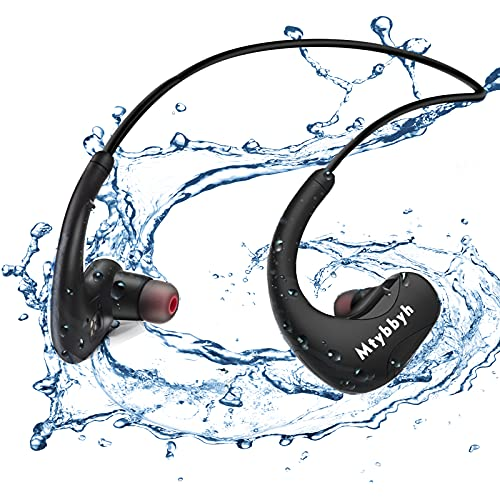Waterproof Headphones for Swimming,IPX8 Waterproof 8GB MP3 Player...