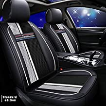 Muchkey 3D Surrounded Luxury PU Leather Car Seat Cover for Hyundai i10 i20 ix20 ix35 i30 Full Set 5-Seats car seat Cover Front+Rear Cushion,Airbag Compatible