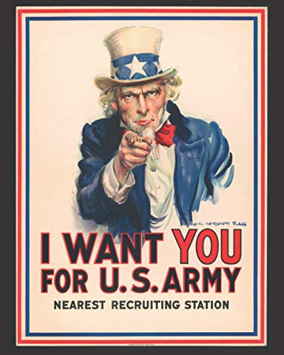 I Want You For The U.S. Army - Nearest Recruiting Station: 2021 Daily-Weekly-Monthly Calendar Planner Appointment Book: January 1, 2021 - December 31, ... Blue (Appointment Planner Calendars for 2021)