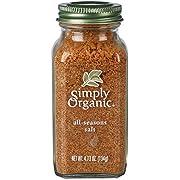 Simply Organic All-Seasons Salt, Certified Organic   4.73 oz   Pack of 4