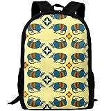 best& Southwestern Armadillo On Yellow Casual Laptop Backpack School Bag Shoulder Bag Travel Daypack Handbag