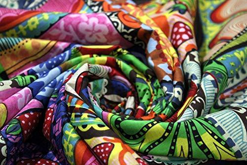 Trade Star – Tela de algodón para costura, decoración del hogar para niños, tela de algodón étnico para acolchar, tela por metro para cortina, algodón, Patrón 3, 10 Metros