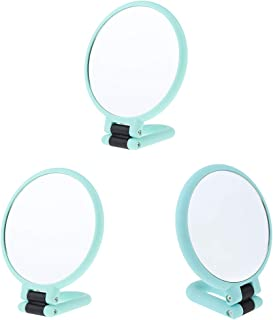 Blesiya 3Pack Handheld Mirror with Handle, Normal & 2X/3X/15X Magnification 2 Sided for Vanity Makeup Home Salon Travel Use