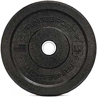 Diamond Pro 10-45lb Crumb Bumper Plate Pairs Recycled Rubber Bumper Plates - for Crossfit, Olympic Lifting, Strength Training