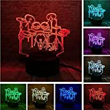 Night Light Musical 3D Led Rack Drum Set Visual 7 Colors Dimming Gradient Child Kids Baby Sleep Bedside Decor Lamp Holiday Xmas Gifts
