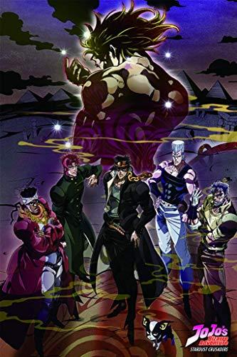 Kopoo Bizarre Adventure Group Manga Poster, 12' x 18' (297 x 450 mm)