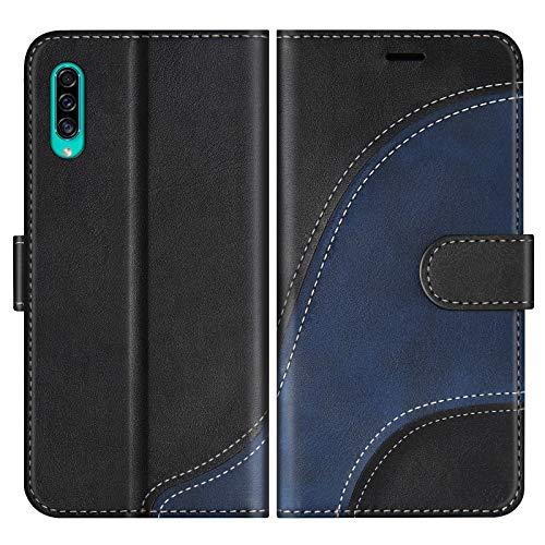 BoxTii Cover per Galaxy A50 / Galaxy A50S / Galaxy A30S, Custodia in PU Pelle Portafoglio per Samsung Galaxy A50 / Galaxy A50S / Galaxy A30S, Magnetica Cover a Libro con Slot per Schede, Nero