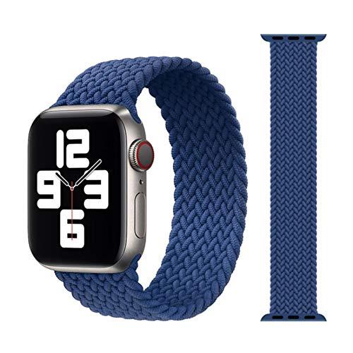 Cinturino in tessuto di nylon intrecciato solo per cinturino Apple Watch 44mm 40mm 38mm 42mm Bracciale elastico per IWatch Series 6 SE 5 4 3-05 Atlantic Blue, per 42MM o 44MM