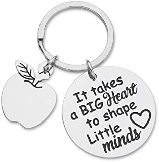 Teacher Appreciation Gifts for Women Men Graduation Keychain from Teen Student Boys Girls Preschool Gift Mom Dad Thank You Gift It Takes Big Heart to Shape Little Minds Key Ring