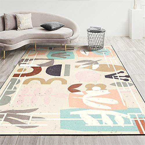 Alfombra alfombras salón Alfombra de fácil Cuidado Azul Rosa marrón Art Graffiti para habitación Infantil Antideslizante alfombras moqueta para el Suelo 50*80cm
