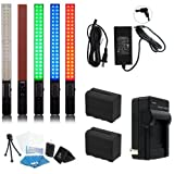 Yongnuo YN360 LED Video Light 5500K RGB Full Color PRO KIT W/AC Adapter and Two High Power Batteries and Rapid Charger and case Pro KIT