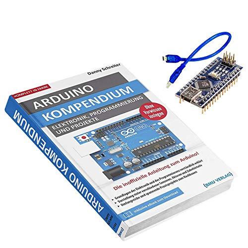 AZDelivery Großes Arduino Kompendium Buch mit gratis Nano V3 mit USB Kabel