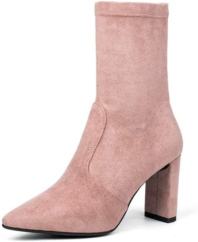 AdeeSu Womens Bucket-Style High-Heels Urethane Boots SXE04307