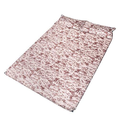 KUN PENG SHOP Double autocollant gonflable automatique mat camouflage numérique tapis gonflable tapis anti-humidité camping extérieur voyage au désert A+
